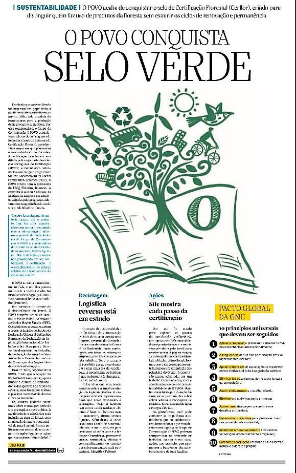 Jornal O POVO conquista selo verde com a assessoria da DSGQ Thinking Business